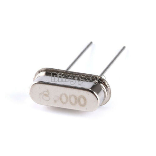 8.000 MHZ 10X Crystal Oscillator 2Pins DIP 20PF HC-49S SMD 8MHz