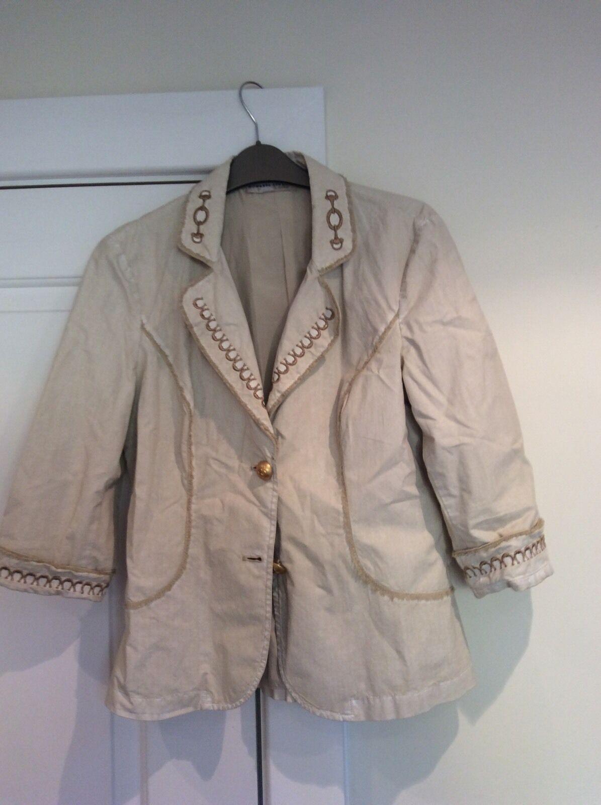 Roberta Scarpa Beige Cream Trouser Suit