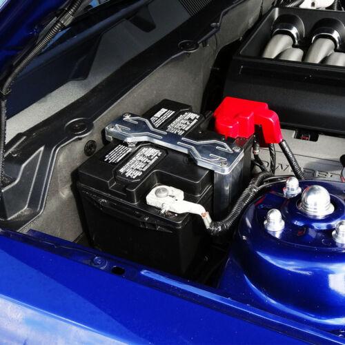07-10 FORD MUSTANG BILLET BATTERY HOLD DOWN KIT GT500 LOGO