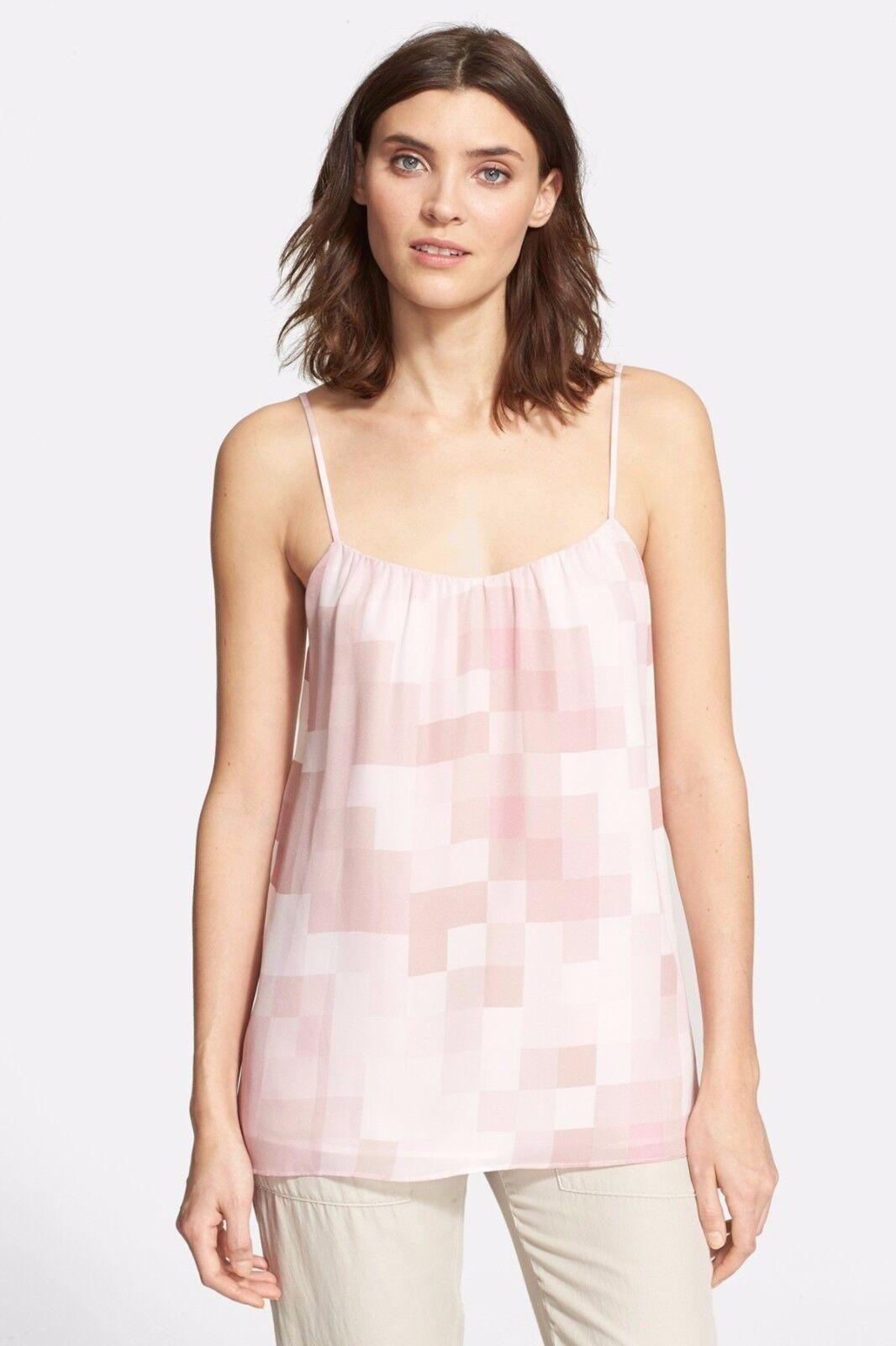 NWT  Vince Tonal Square Silk Camisole pinkwood [ Medium ]