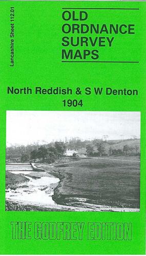 OLD ORDNANCE SURVEY MAP NORTH REDDISH SW DENTON 1904 MANCHESTER GORTON ROAD