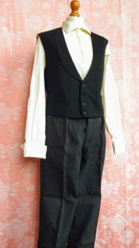 Vintage French 1940s Mens Formal Clothes LOT Pants