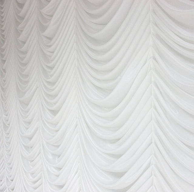 "2 VOILE CHIFFON SHEER WEDDING CURTAIN 9ft DRAPE PANEL BACKDROP 120/"" x 108/"" WHITE"