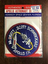 APOLLO 9 AB EMBLEM PATCH IN NASA TOURS / ORIGINAL RACK PACKAGING PRICE STICKER
