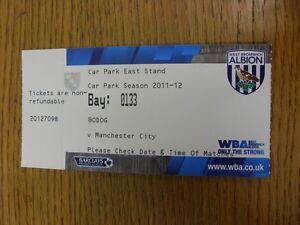26122011 Ticket West Bromwich Albion v Manchester City Car Park Pass  Than - Birmingham, United Kingdom - 26122011 Ticket West Bromwich Albion v Manchester City Car Park Pass  Than - Birmingham, United Kingdom
