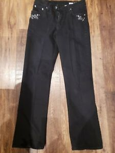 Womens Lawman Western Jeans Black