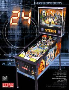24-Pinball-Machine-FLYER-Original-2009-Stern-NOS-TV-Show-Promo-Artwork-Sheet