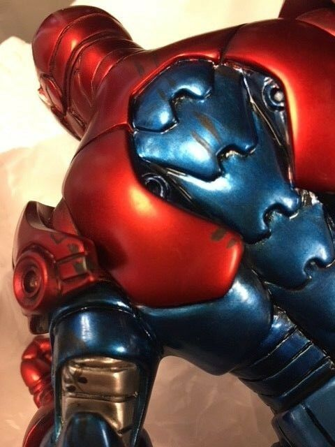 Bowen Designs Iron Patriot Painted Painted Painted Statue DAMAGED JC cd692d