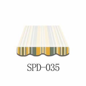 Markisen-Volant-Bespannung-Ersatzstoffe-3-x-0-23m-4-x-0-23m-SPD035-mehrfarbig