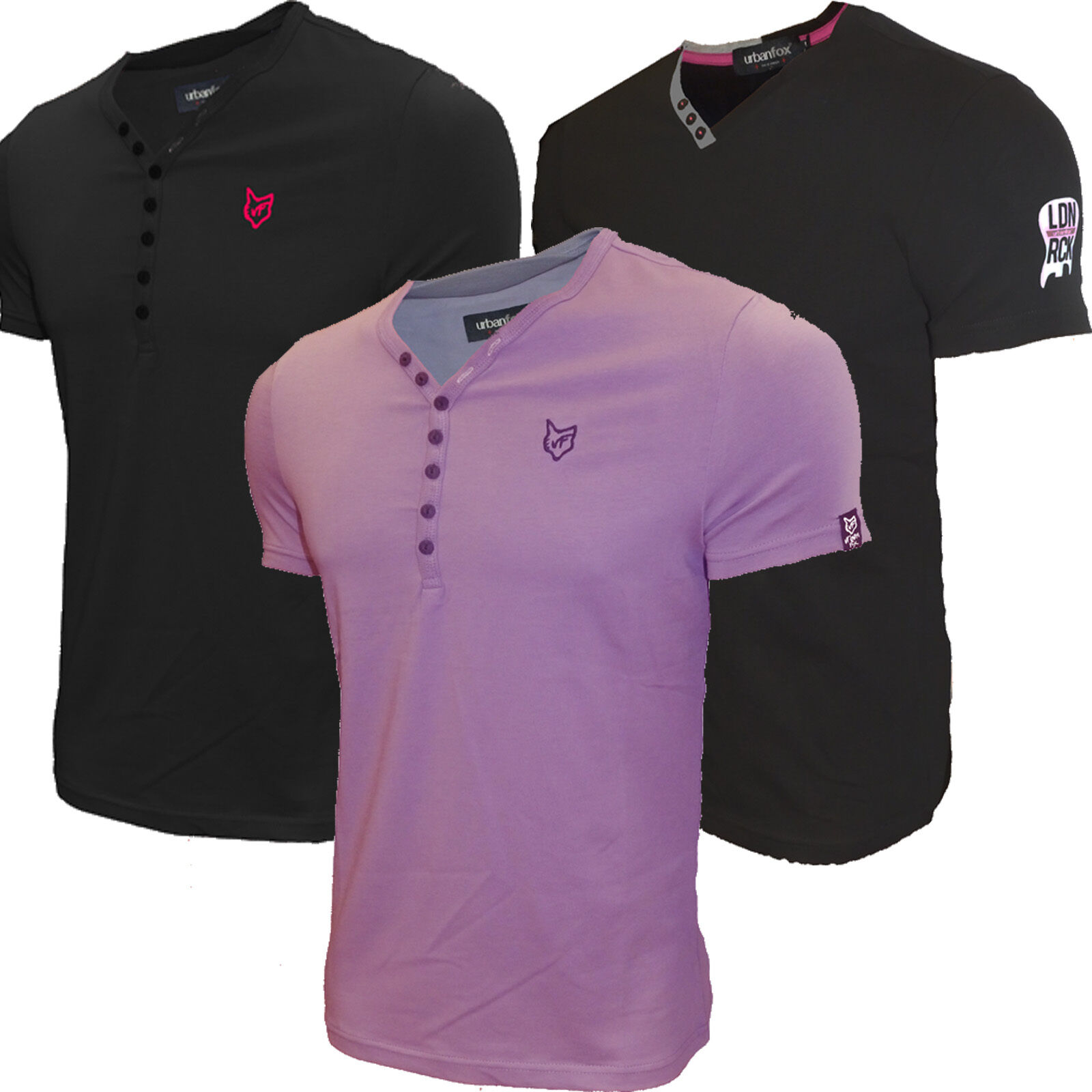 Mens Polo Shirt Slim Fit Urban Fox Short Sleeve Top New Ebay