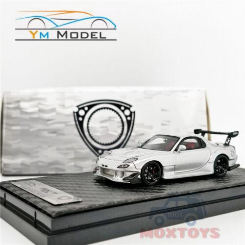 YM Model 1:64 Mazda RX-7 Amemiya silver Resin Model Car