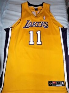 newest 27181 f45b6 Details about Nike DriFit Authentic Karl Malone Los Angeles Lakers  Authentic Jersey sz 48 XL