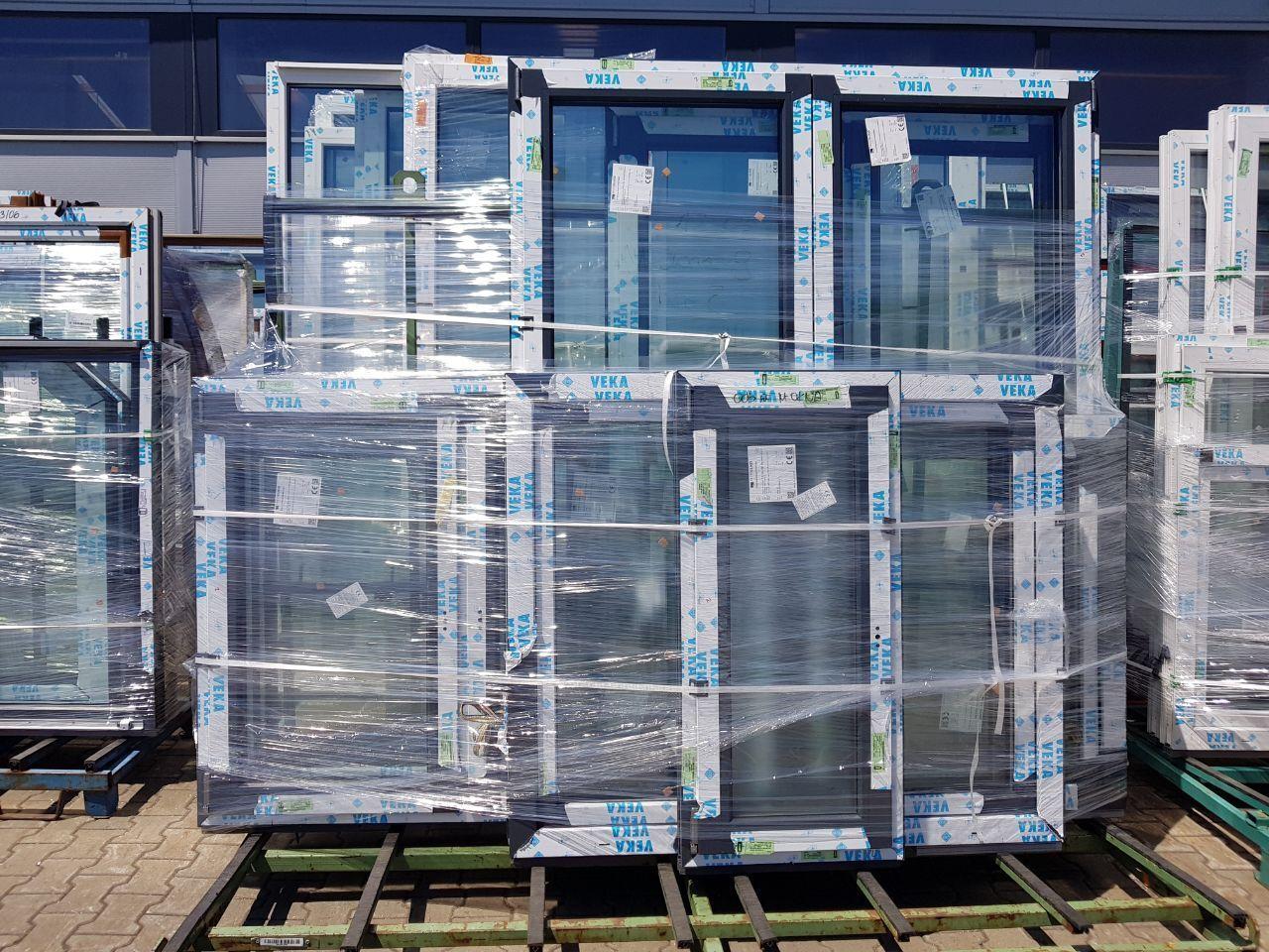 Kunststoff-Fenster Veka Weiß 2 Scheiben DKR Günstug NEU