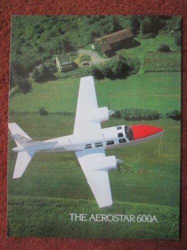 1977 DEPLIANT PUBLICITAIRE TED SMITH AEROSTAR CORP AEROSTAR 600A AVION FLUGZEUG