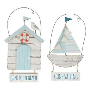 Seaside-refranes-Colgante-de-Decoracion-de-barco-Cabana-de-Playa-Blanco-De-Madera-Madera-a-la-deriva