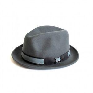 f15105ce349 Robin Two Tone Felt Winter Men s Women s Fedora Hat Clothing