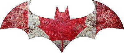 Vinyl Sticker Decal Full Color CAD Cut Car logo Batman 2005 Canada Flag