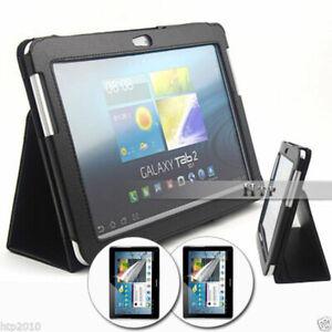 Slim Leather Flip Case Samsung Galaxy Tab 2 10.1 P5100 P5110+ Screen Protect AU