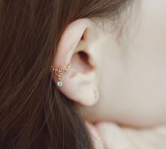 Punk Hot Fashion Ear Cuff Wrap Rhinestone Cartilage Clip On Earring Non Piercing