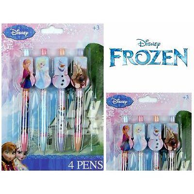 Licensed Disney Marvel 4 Clip On Pens Spiderman Princess Avengers Frozen