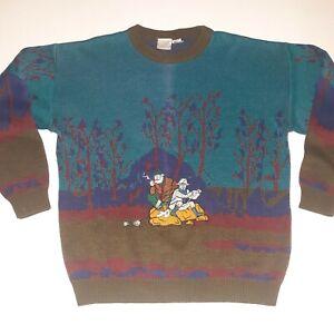 Seltene-Vintage-034-Fishing-Buddies-034-Ash-Creek-bestickt-Bill-Cosby-Pulli-Large