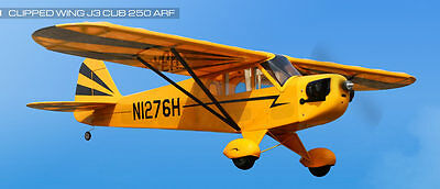 EFLITE E-FLITE CLIPPED WING CUB J3 250 RC REMOTE CONTROL AIRPLANE ARF EFL5055