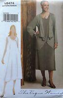 The Vogue Women Pattern Raglan Sleeve Jaket & Lapped Front Dress Plus Size 8-24