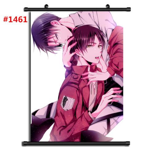 """Anime Attack on Titan manga Wall Scroll Poster cosplay8/""""x11/"""" B"""