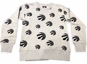 Toronto-Raptors-NBA-Basketball-Youth-Triumph-All-Over-Logo-Crew-Pullover-Top-NWT