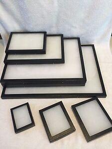 390 5 riker mount display case shadow box frame tray 20 x 14 x 2 ebay. Black Bedroom Furniture Sets. Home Design Ideas