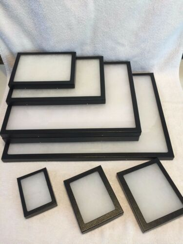 "#390 5 Riker Mount Display Case Shadow Box Frame Tray 20"" X 14"" X 2"""