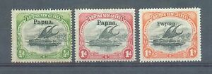 Papua-1906-7-sg-21-2-and-44-thick-paper-MH