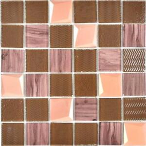 Crystal-vetro-Mosaico-Bronzo-cucina-muro-bagno-doccia-piastrelle-specchio-88-1515-10-Tappetini