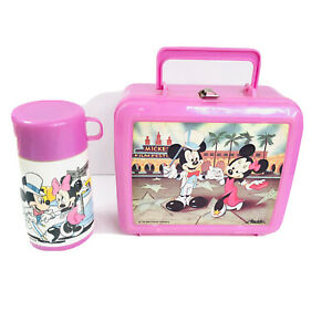 Aladdin Minnie Mouse Lunch Box & Thermos Pink Film Festival Mickey Mouse Vintage
