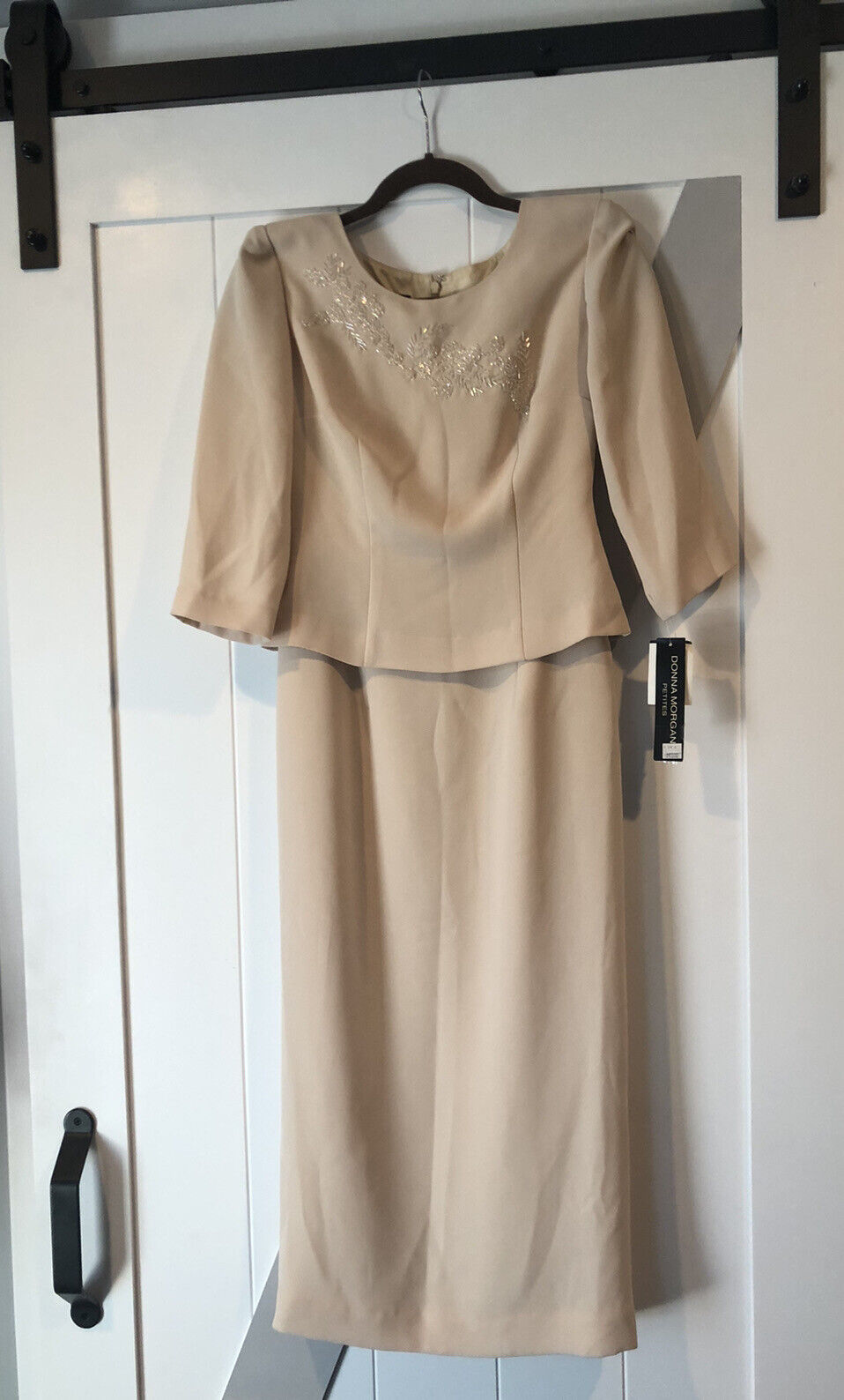 New Dress Size 4 Petite Donna Morgan Formal Mother Of Bride Maid Of Honor Sand