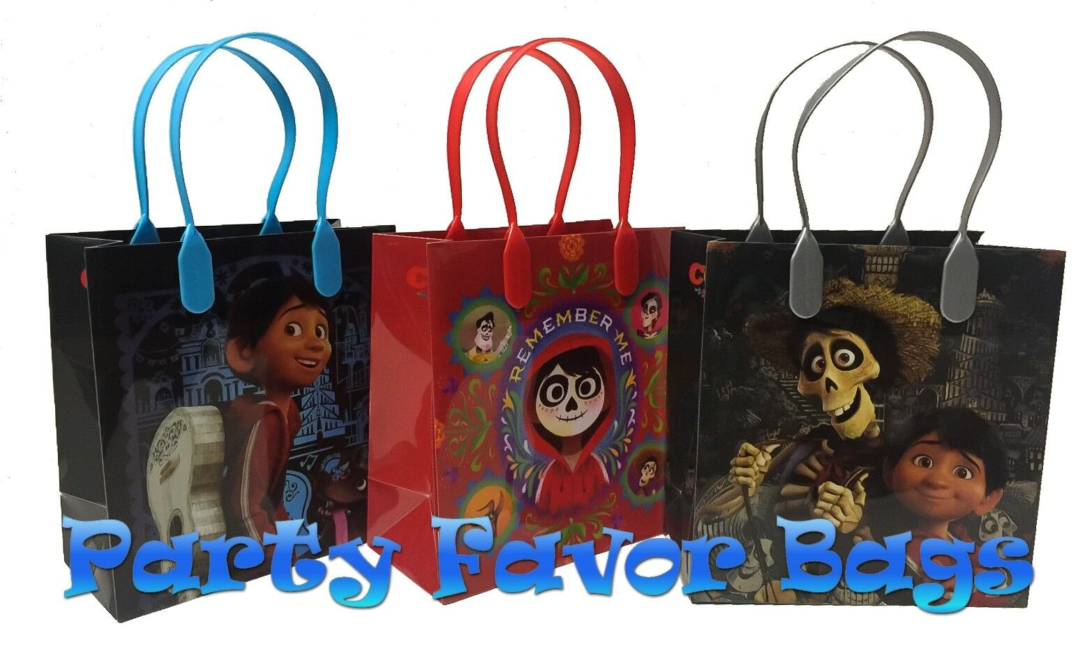 48 pc Disney Pixar COCO Party Favor Bags Candy Treat Birthday Gift Toy Loot Sack
