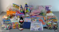 Girl Party Favors Plate Napkin Fork Cake Server Bags Thanks You Notes Toys Lot