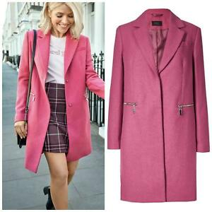 Marks-and-Spencer-Ladies-Size-20-M-amp-S-Pink-Wool-Blend-Coat-Womens