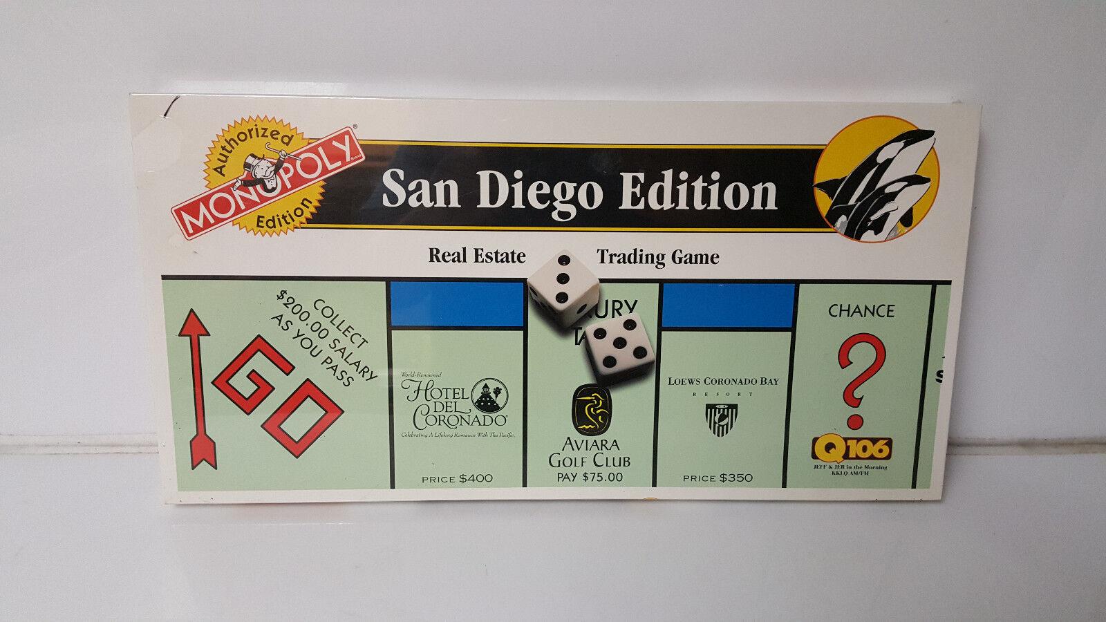 Monopoly San Diego Edition Older Hotel Del Coronado New Sealed