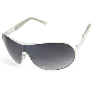 2adafe0484137 G by Guess GGU2037 White Grey Gradient Women s Shield Sunglasses ...