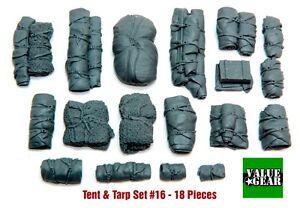 1-35-Scale-Resin-kit-Tents-amp-Tarps-Set-16-tank-or-vehicle-stowage-set