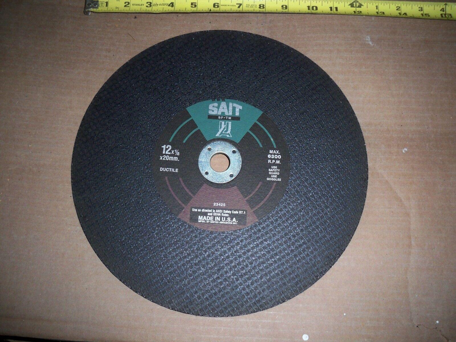 8pc-12 X1 8 X 1 SAIT REINFORCED FOR DUCTILE CUT-OFF WHEEL BLADE ABRASIVE CUTOFF