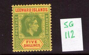 Leeward-Islands-George-VI-SG112-5-single-multi-colour-lightly-hinged