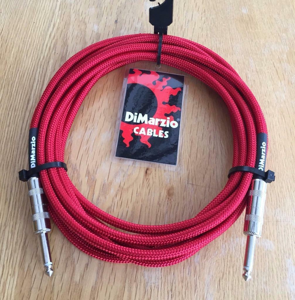 Dimarzio Rojo 5.5m 18 18 18 Pies De Cable De Guitarra Bajo Instrumento De Calidad plomo hechos en EE. UU.  marca en liquidación de venta
