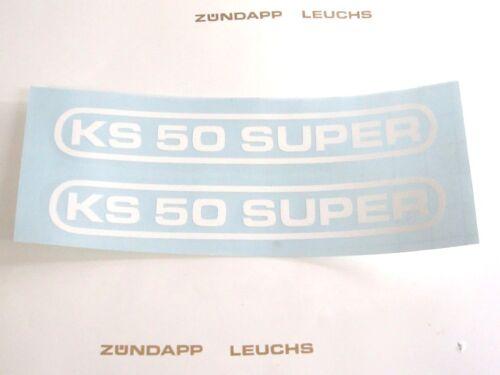 Weiß Heck 1,5 x 13cm Zündapp Aufkleber KS 50 Super