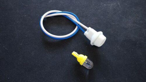 14mm Sidelight//Pilot//Parking Light Bulb Holder  12 volt Yellow LED