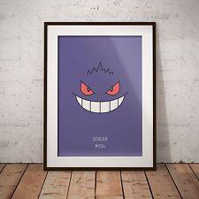 A4 Pokemon Go Gengar 094 Print Poster Gift Present Japanese Anime Game