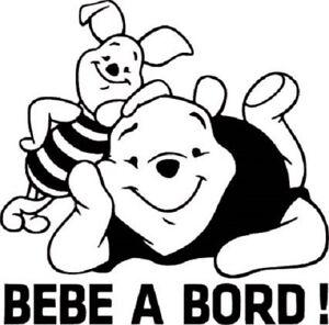 Stickers Bébé à bord Winnie et Bouriquet