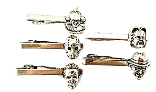 Details about  /Horror Movies Classic Horror Characters Metal Enamel Set of 5 Tie Clips