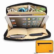 GIALLO Universal Storage ACCESSORI DA VIAGGIO ORGANIZER iPad Air, tablet, USB, Cavo